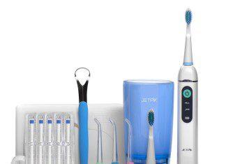 Irrigador oral e escova elétrica