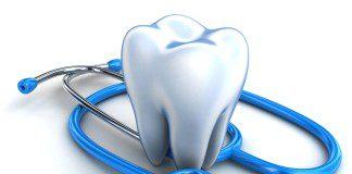 dente e estetoscópio